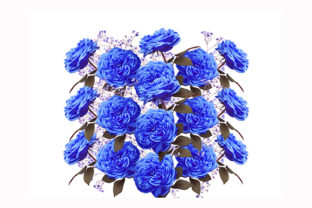 Print on Demand: Classic Blue Flowers Flora Florals Graphic Illustrations By Chiplanay