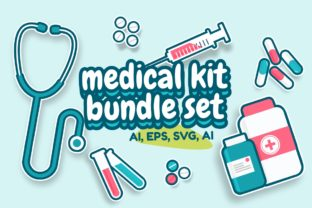 Print on Demand: Clipart Medical Kit Set - Illustration Graphic Illustrations By YDNTKWIA