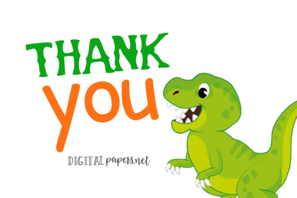 Colorful Dinosaurs Clipart Graphic Item