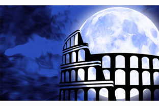 Print on Demand: Colosseum Rome Italy Architecture Graphic Illustrations By Chiplanay