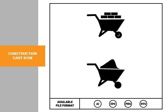 Print on Demand: Construction Cart Icon Graphic Icons By pnajlab