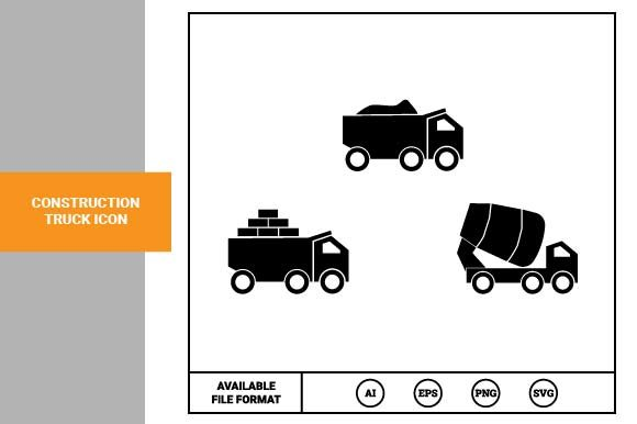 Print on Demand: Construction Truck Icon Graphic Icons By pnajlab