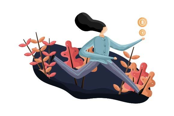 Print on Demand: Cryptocurrency Flat Illustration Graphic Illustrations By pnajlab
