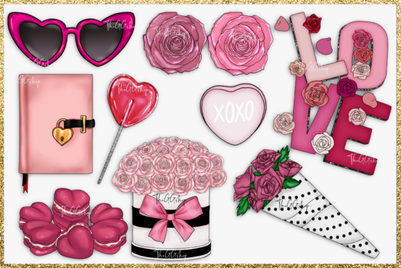 Cute Valentine's Day Clipart Set Graphic Item