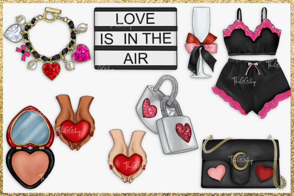 Cute Valentine's Day Clipart Set Graphic Image