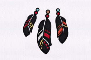 Decorated Feathers Africa Embroidery Design By DigitEMB
