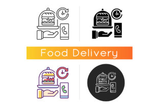 Print on Demand: Delivery Time Icon Graphic Icons By bsd studio