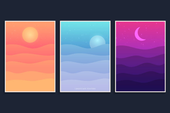 Desert Landscape Background Collection Graphic Backgrounds By medelwardi
