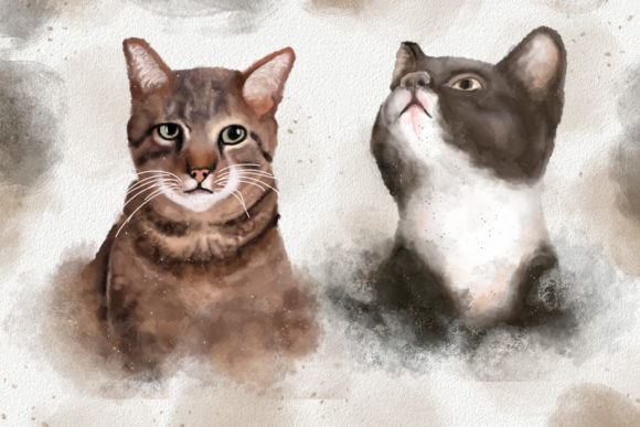 Dogs and Cats Watercolor Collection Graphic Item