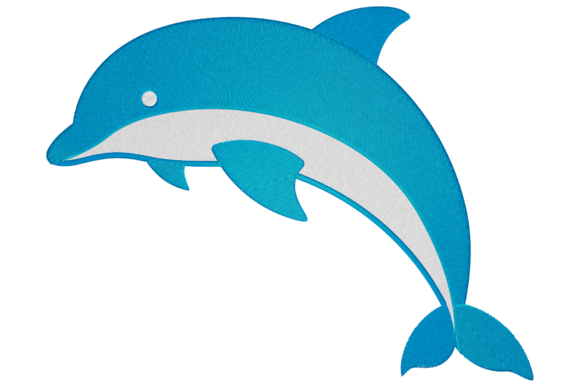 Dolphin Marine Mammals Embroidery Design By Digital Creations Art Studio