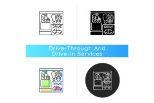 Print on Demand: Drive Through Grocery Shopping Icon Graphic Icons By bsd studio