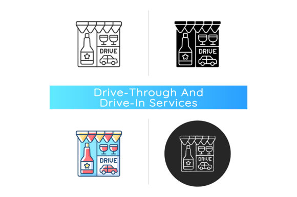 Print on Demand: Drive Through Liquor Store Icon Graphic Icons By bsd studio