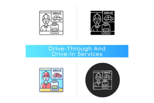 Print on Demand: Drive Through Window Icon Graphic Icons By bsd studio