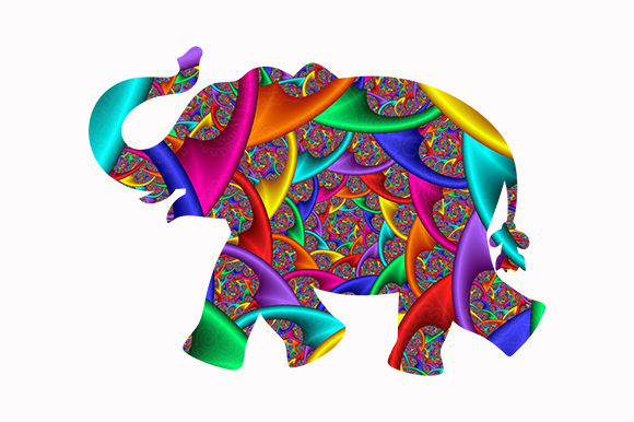 Print on Demand: Elephant Colorful African Animal Graphic Illustrations By Chiplanay