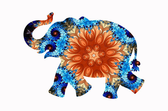 Print on Demand: Elephant Cute African Animal Icon Logo Graphic Illustrations By Chiplanay
