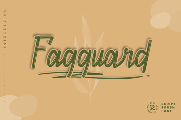 Print on Demand: Fagguard Script & Handwritten Font By RHIDTYPE