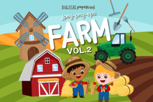 Print on Demand: Farm Clipart - VOL 2 Graphic Illustrations By DigitalPapers
