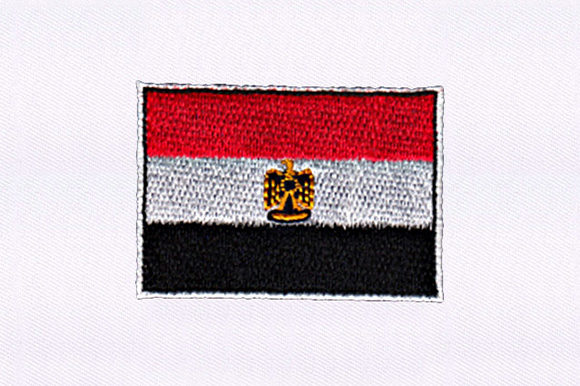 Flag of Egypt Independence Day Embroidery Design By DigitEMB