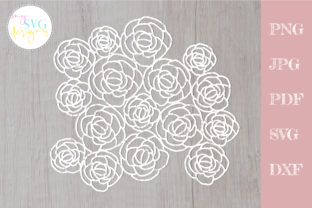 Floral Lace Svg, Roses Svg Graphic Crafts By MySVGDesigns