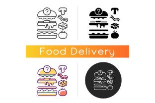 Print on Demand: Food Constructor Icon Graphic Icons By bsd studio