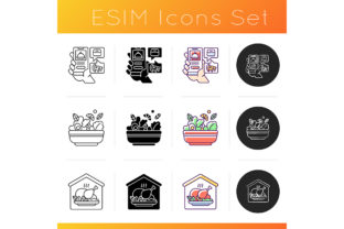 Print on Demand: Food Delivery Service Icons Set Graphic Icons By bsd studio