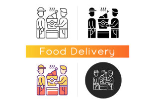 Print on Demand: Food Pickup Icon Graphic Icons By bsd studio