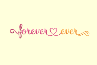 Print on Demand: Forever and Ever Wedding Quotes Embroidery Design By setiyadissi