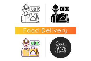 Print on Demand: Free Delivery Coupon Icon Graphic Icons By bsd studio
