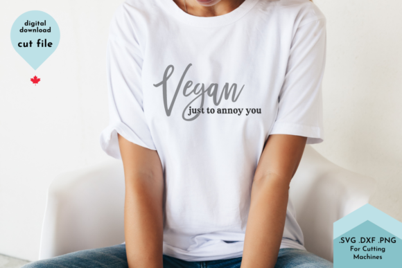 Print on Demand: Funny Vegan SVG Cut File, Sarcastic Svg Graphic Crafts By Lettershapes