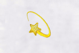 Golden Star Bed & Bath Embroidery Design By DigitEMB