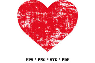 Print on Demand: Grunge Heart Distressed Vector SVG PNG Graphic Illustrations By GraphicsFarm