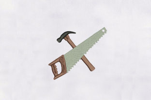 Hammer & Saw Tools Work & Occupation Embroidery Design By DigitEMB