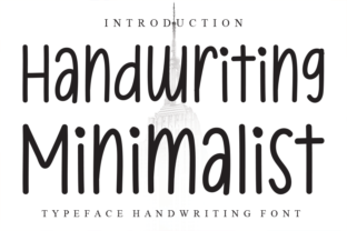 Print on Demand: Handwriting Minimalist Script & Handwritten Font By W26Green