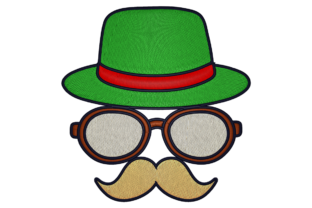 Print on Demand: Hat, Glass, Moustache Travel & Season Embroidery Design By embroidery dp