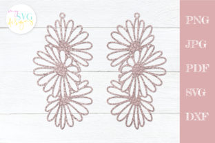 Leather Earrings Svg, Daisy Earring Svg Graphic Crafts By MySVGDesigns