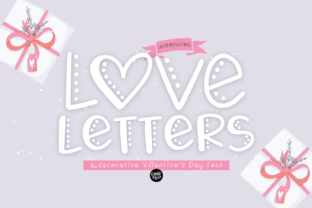 Print on Demand: Love Letters Display Font By dixietypeco
