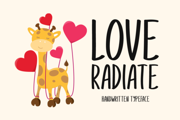 Print on Demand: Love Radiate Display Font By Seemly Fonts