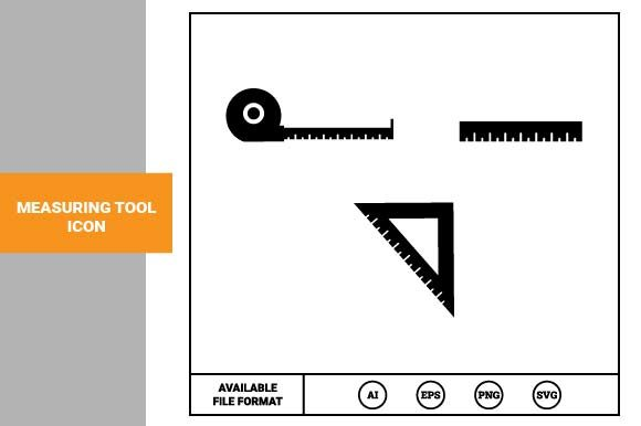 Print on Demand: Measuring Tool Icon Graphic Icons By pnajlab