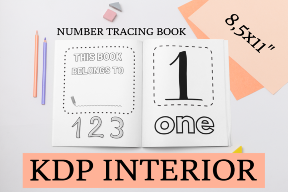 Print on Demand: Number Tracing Book | KDP Interior Graphic KDP Interiors By KDP Mastermind