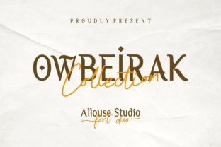 Print on Demand: Owbeirak Collection Serif Font By allouse.studio