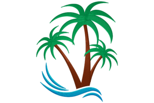 Palm Tree Blumen & Garten Stickdesign von Digital Creations Art Studio