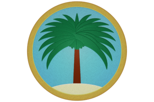 Print on Demand: Palm Tree Landscape Travel & Season Embroidery Design By embroidery dp