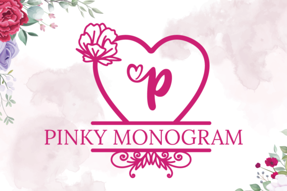 Print on Demand: Pinky Monogram Decorative Font By attypestudio