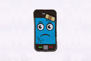 Plastered Mobile Toys & Games Embroidery Design By DigitEMB