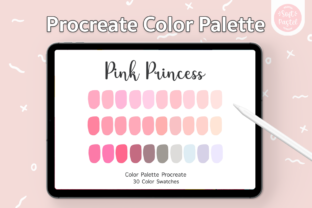 Procreate Color Palette - Pink Princess Graphic Add-ons By SoftPastel
