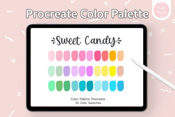 Procreate Color Palette - Sweet Candy Graphic Add-ons By SoftPastel