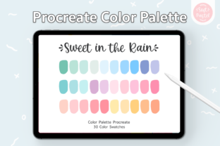 Procreate Color Palette - Sweet in Rain Graphic Add-ons By SoftPastel