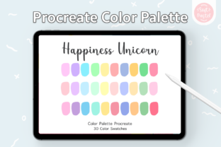 Procreate Color Palette - Unicorn Graphic Add-ons By SoftPastel