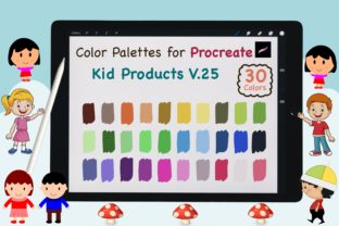 Procreate Color Palette-Kid Product V.25 Graphic Add-ons By jennythip