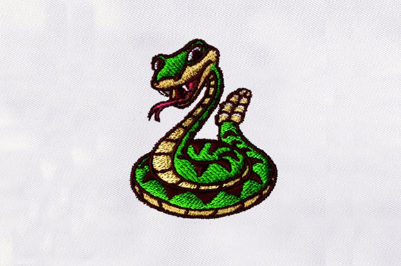 Rattlesnake Machine Design Reptiles Embroidery Design By DigitEMB